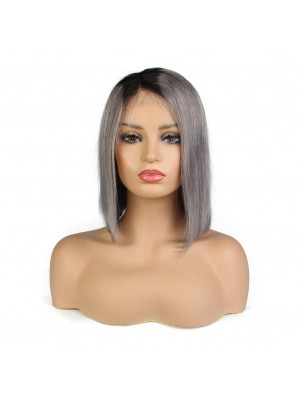 Magic Love #1b/grey Pre Plucked  Lace  Wig Factory Stock Human Hair wigs (MAGIC069)