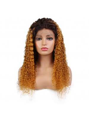 Magic Love Human Virgin Hair Ombre curly Pre Plucked Lace Front Wig &Full Lace wig For Black Woman Free Shipping(Magic0106)