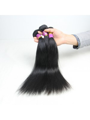Magic Love 4PCS/LOT Brazilian Straight Virgin Human Hair Weave Bundles Natural Black Color Double Weft Hair Extensions Free Shipping 8-30''(MAGIC021)