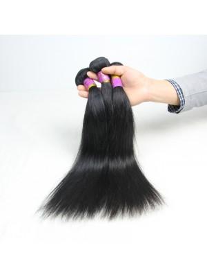 Magic Love 4PCS/LOT Brazilian Straight Virgin Human Hair Weave Bundles Natural Black Color Double Weft Hair Extensions Free Shipping 8-30''(MAGIC021)