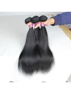 Magic Love Straight Hair Weave Bundle 100% Human Hair Extensions Virgin Hair Double Layer Weft Natural Black Can Be Colored(magic020)