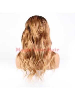 Magic Love #1b/27 Pre Plucked Lace Wig Factory Stock Big Loose Wavy Human Hair wigs (MAGIC076)