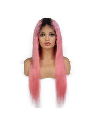 Magic Love Pre Plucked  Factory Stock Color 1B Pink Human Hair wigs (MAGIC039)