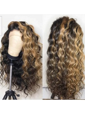 Magic Love Human Virgin Hair Ombre 1b/27 Pre Plucked Lace Front Wig And Full Lace Wig For Black Woman Free Shipping (MAGIC0128)